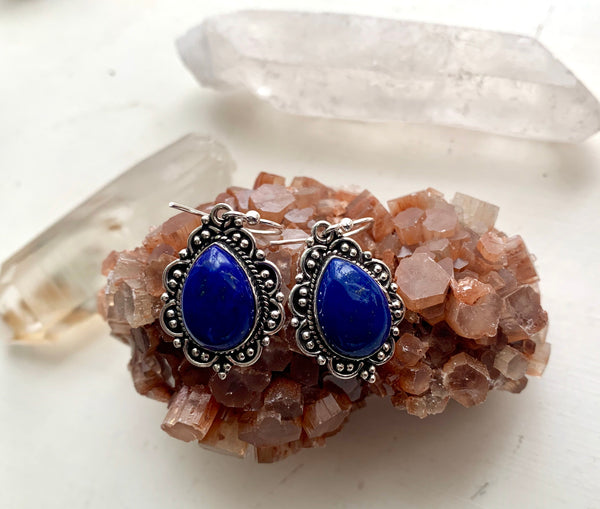 Lapis Lazuli Nissa Earrings - Jewels & Gems