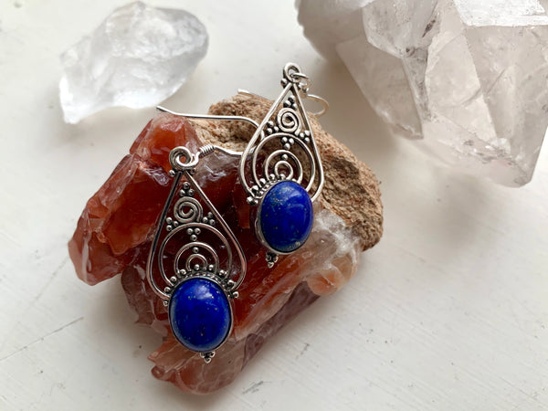 Lapis Lazuli Iria Earrings - Jewels & Gems