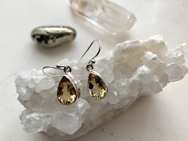 Citrine Ari Earrings - Oval / Drop - Jewels & Gems