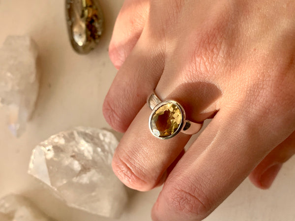 Citrine Sabina Ring - Medium Oval - Jewels & Gems