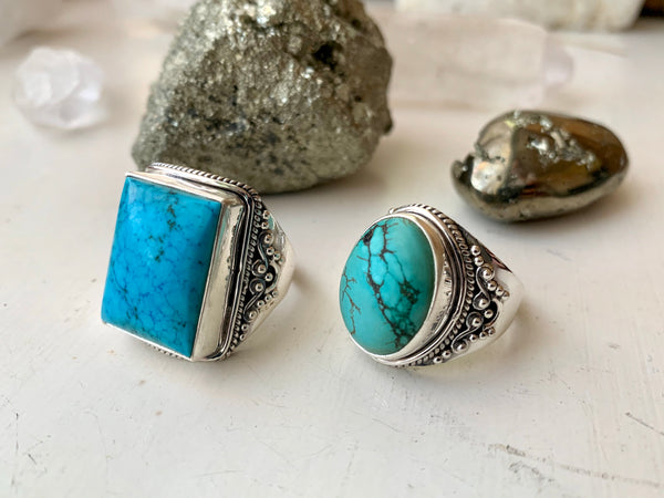Turquoise Kai Rings - Oval / Square - Jewels & Gems
