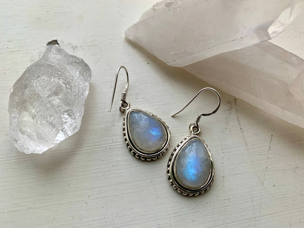 Moonstone Gala Earrings - Teardrop - Jewels & Gems