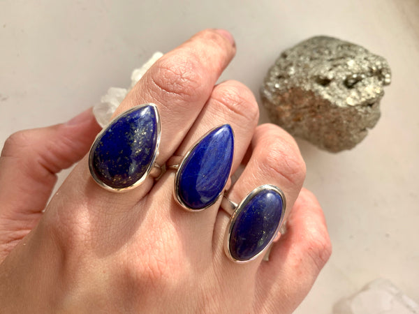 Lapis Lazuli Ariel Mixed Rings - Jewels & Gems