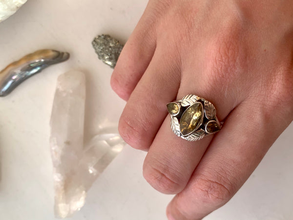 Citrine Foliana Ring - Jewels & Gems