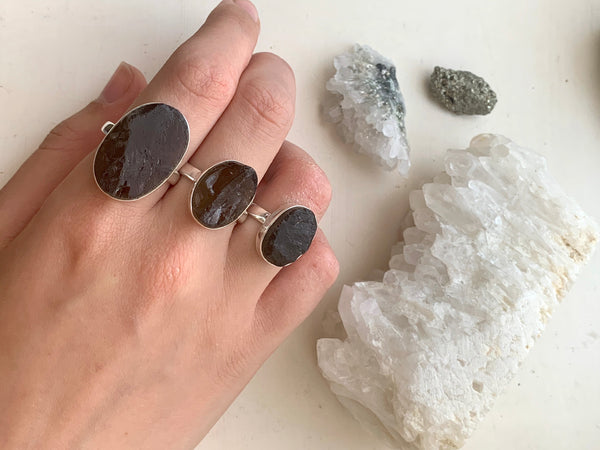 Raw Smoky Quartz Akoni Ring - Jewels & Gems