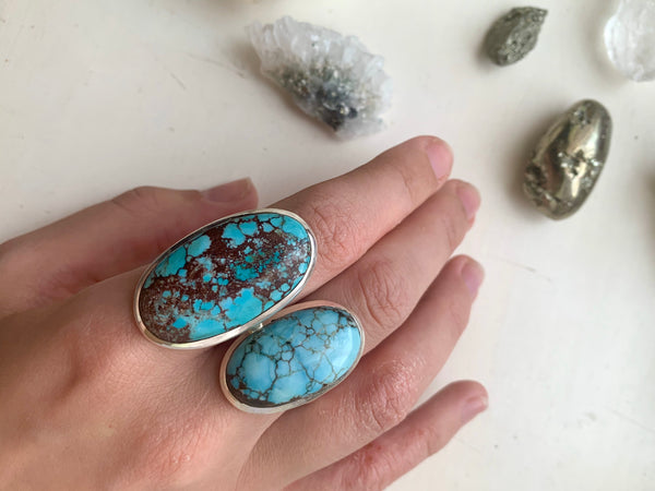 Turquoise Akoni Ring - Long Oval - Jewels & Gems