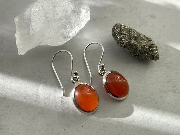 Carnelian Ari Earrings - Jewels & Gems