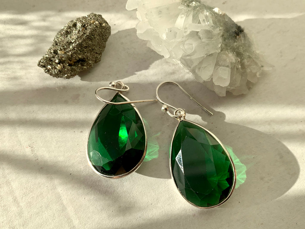 Green Quartz Adora Earrings - Teardrop - Jewels & Gems