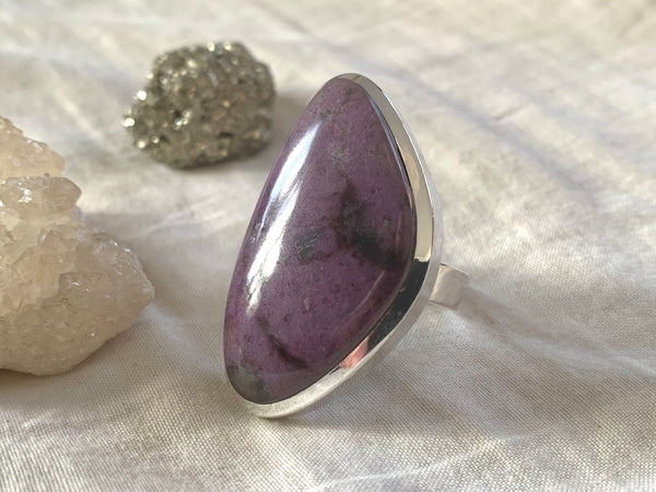 Sugilite Naevia Adjustable Ring - Freeform - Jewels & Gems