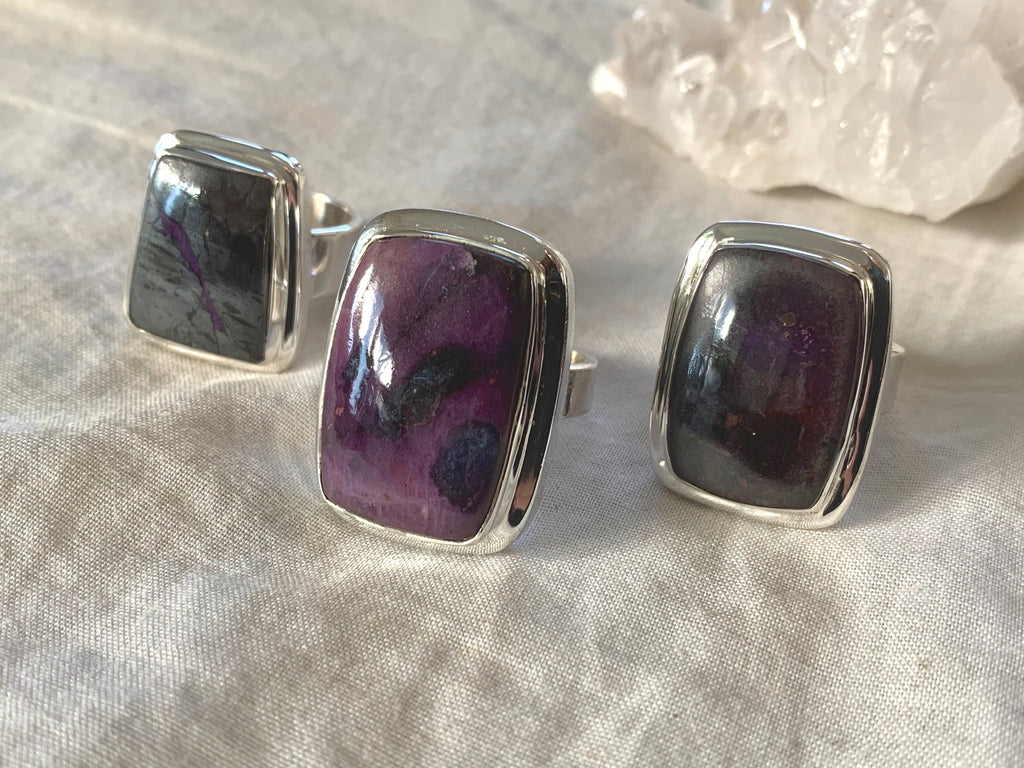 Sugilite Ansley Ring - Square / Kite - Jewels & Gems