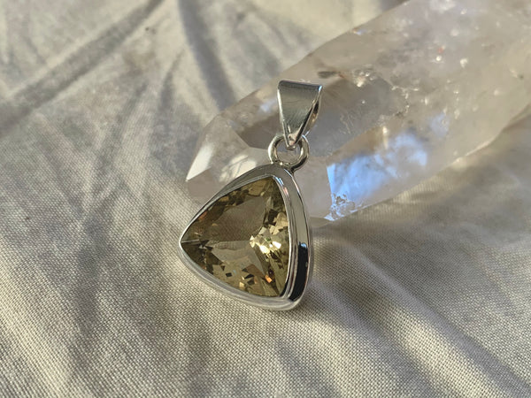 Citrine Ansley Pendant - Triangle - Jewels & Gems