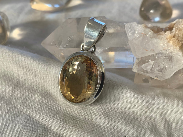 Citrine Ansley Pendant - Reg. Oval - Jewels & Gems