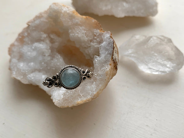 Aquamarine Alta Ring - Round - Jewels & Gems