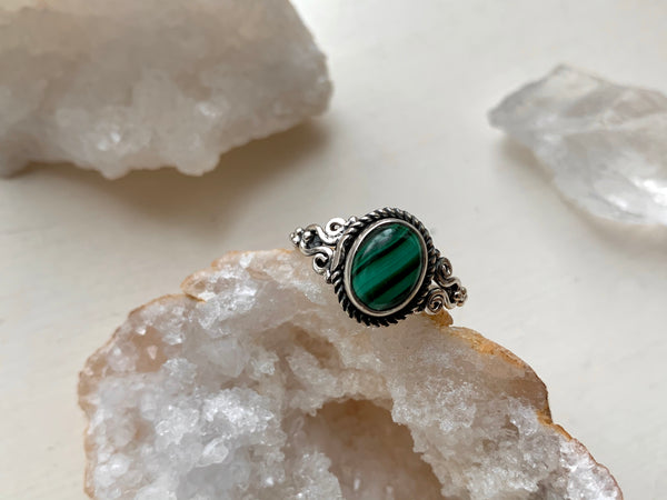 Malachite Alta Ring - Jewels & Gems
