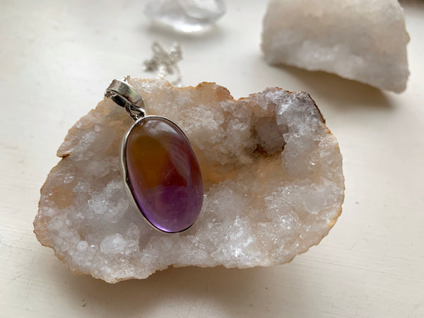 Ametrine Akoni Pendant - Long Oval - Jewels & Gems