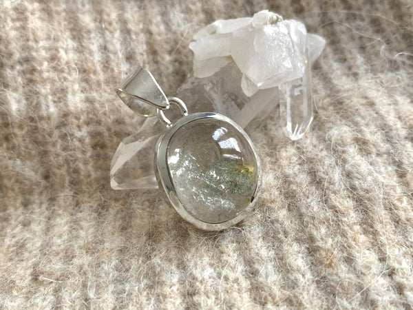 Garden Quartz Naevia Pendant- Reg. Freeform - Jewels & Gems