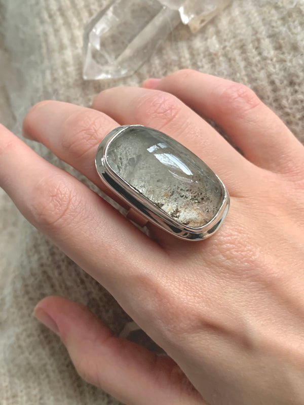 Garden Quartz Ansley Ring - XLarge Rectangle (US 7) - Jewels & Gems