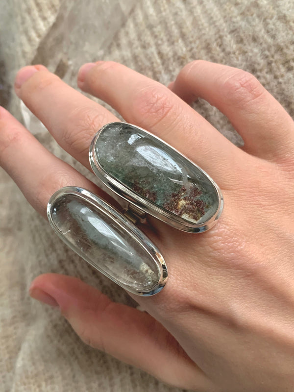 Garden Quartz Ansley Rings - Long Freeform (US 6.5 & 8) - Jewels & Gems