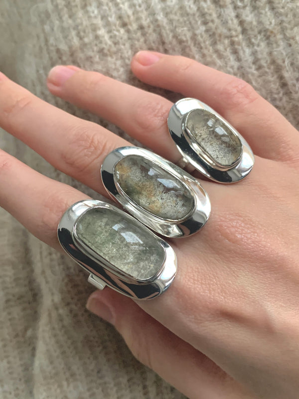 Garden Quartz Medea Rings - Long Freeform - Jewels & Gems