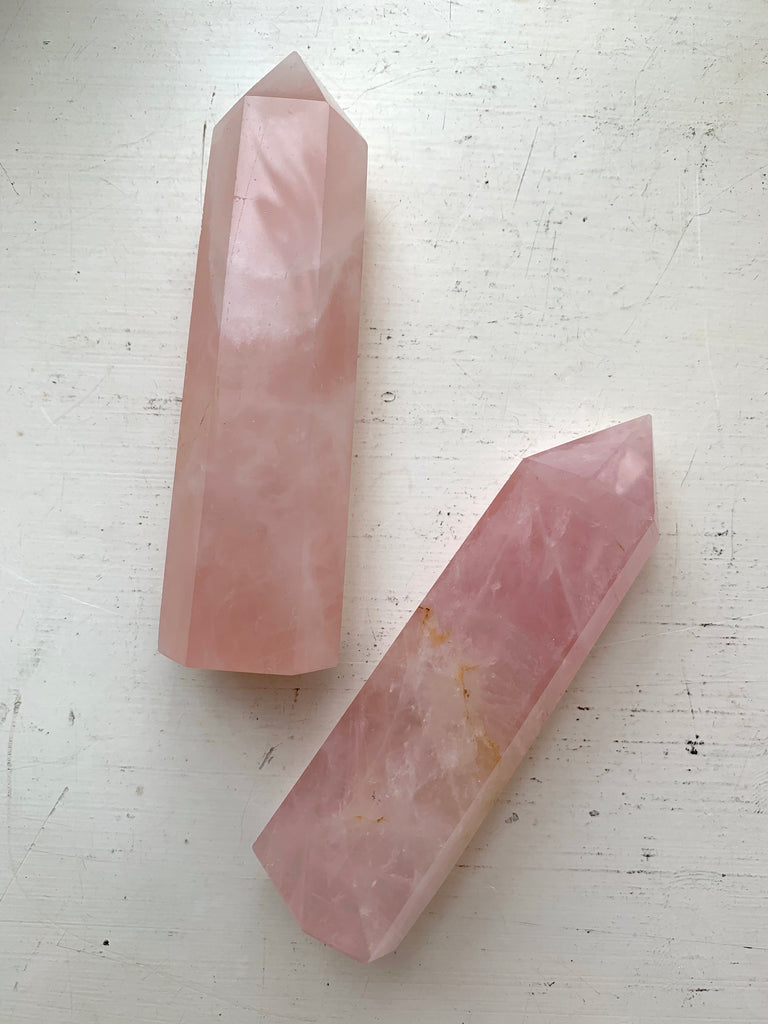 Rose Quartz XLarge Point - Jewels & Gems