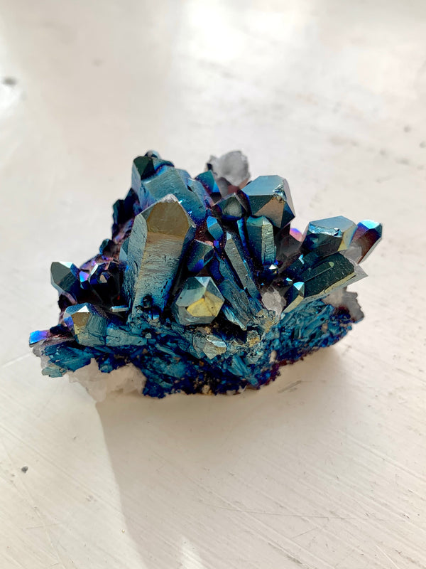 Cobalt Aura Quartz Cluster n.2 - Jewels & Gems