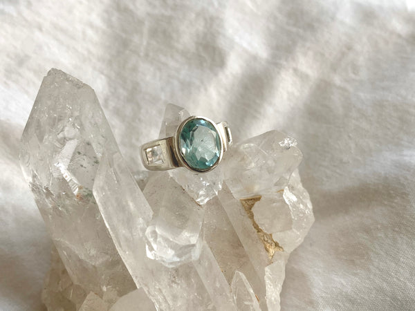 Blue Topaz Falco Ring - Jewels & Gems