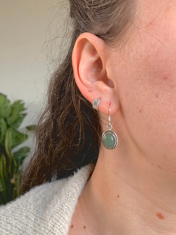 Green Aventurine Brea Earrings - Jewels & Gems
