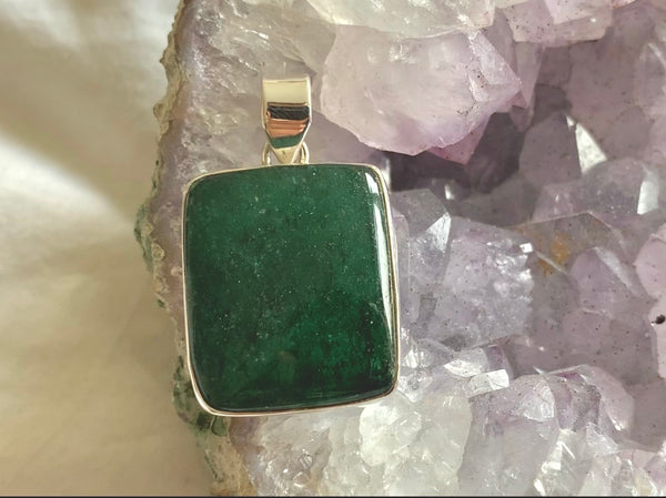 Green Aventurine Akoni Pendant - Reg. Square - Jewels & Gems