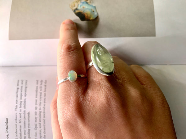 Ethiopian Opal Akoni Ring - Long Oval - Jewels & Gems