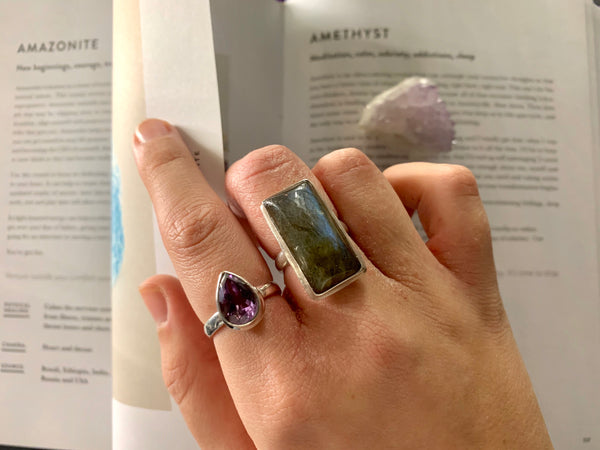 Amethyst Ari Ring - Drop (US 6) - Jewels & Gems