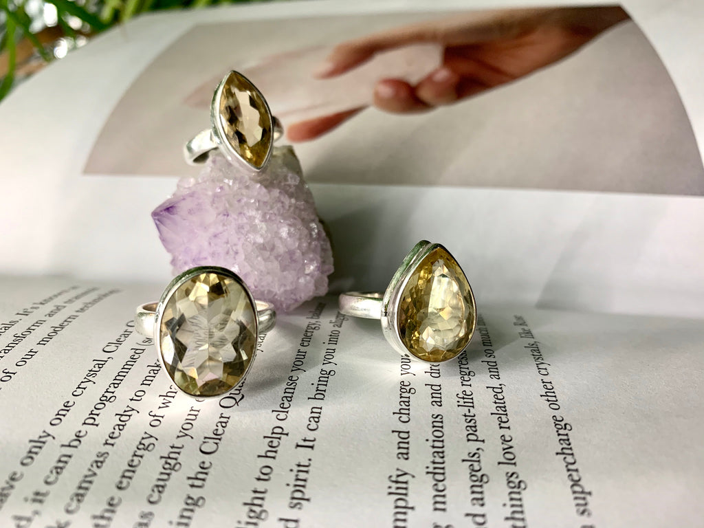 Citrine Large Ari Ring - Jewels & Gems