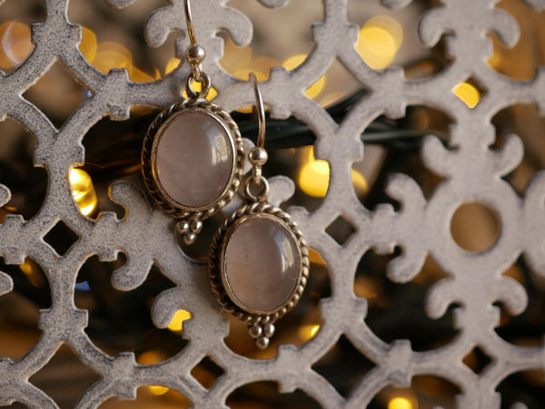Rose Quartz Cassia Earrings - Jewels & Gems