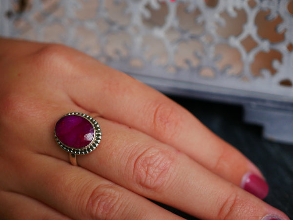 Semi-precious Ruby Rhea Ring - Jewels & Gems