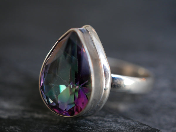 Mystic Topaz Ari Ring - Large Drop - Jewels & Gems