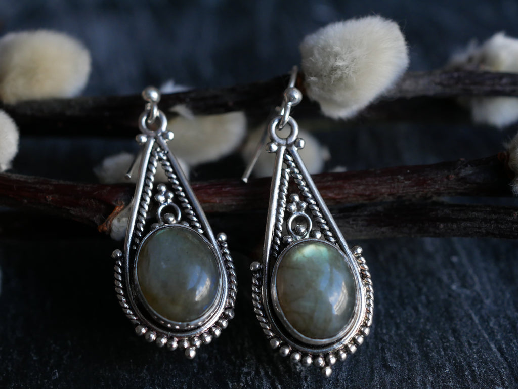 Labradorite Terra Earrings - Jewels & Gems