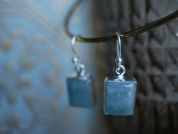 Aquamarine Akoni Earrings - Rectangle - Jewels & Gems