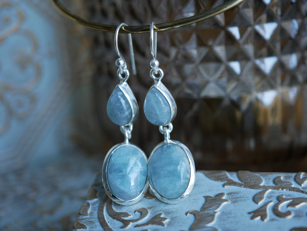 Aquamarine Akoni Earrings DD - Jewels & Gems