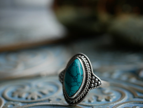 Turquoise Cassia Ring - Jewels & Gems