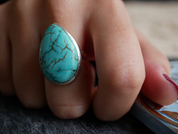 Turquoise Akoni Ring Large Drop - Jewels & Gems