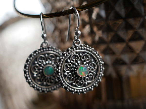 Ethiopian Opal Zahara Earrings - Jewels & Gems