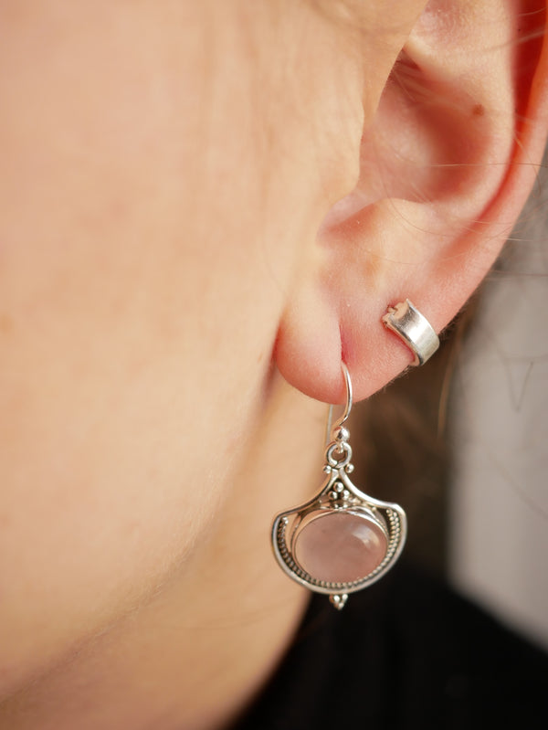 Rose Quartz Kai Earrings - Jewels & Gems