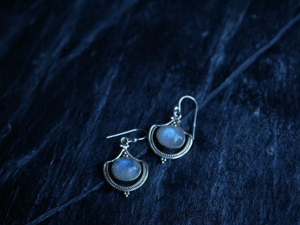 Moonstone Kai Earrings - Jewels & Gems