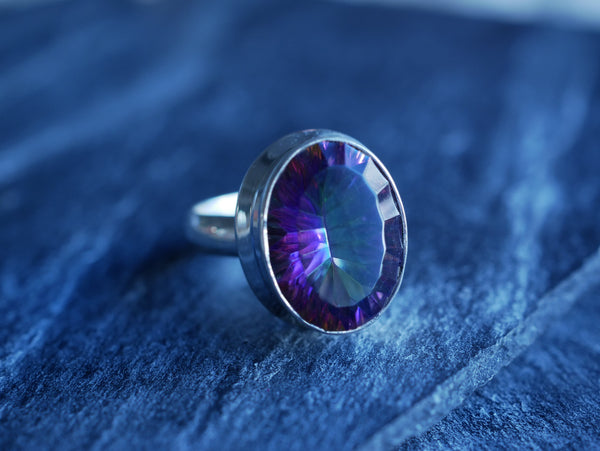Mystic Topaz Ari Ring Oval - Jewels & Gems