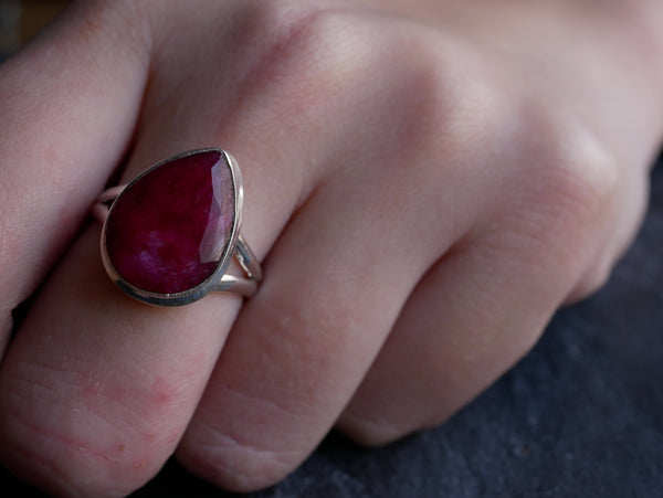 Semi-precious Ruby Ariel Ring - Jewels & Gems