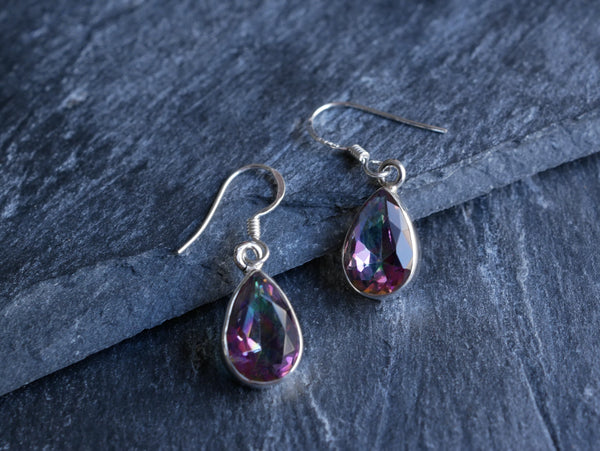 Mystic Topaz Akoni Earrings Drop - Jewels & Gems