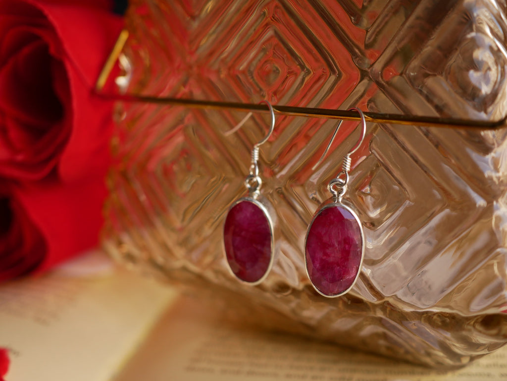 Semi-precious Ruby Akoni Earrings - Jewels & Gems