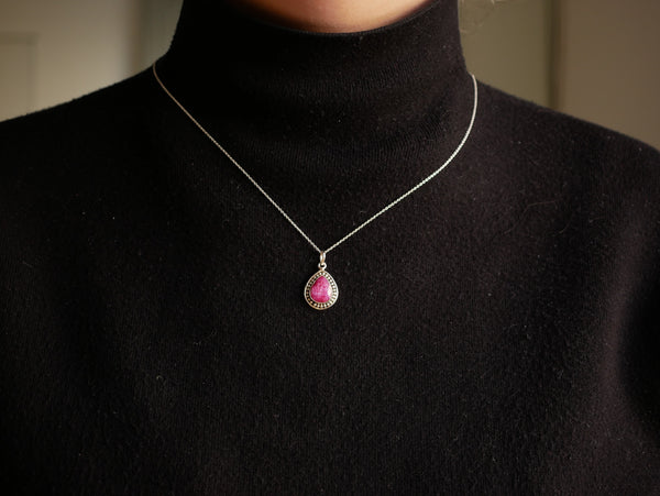 Semi-precious Ruby Xenia Pendant - Jewels & Gems