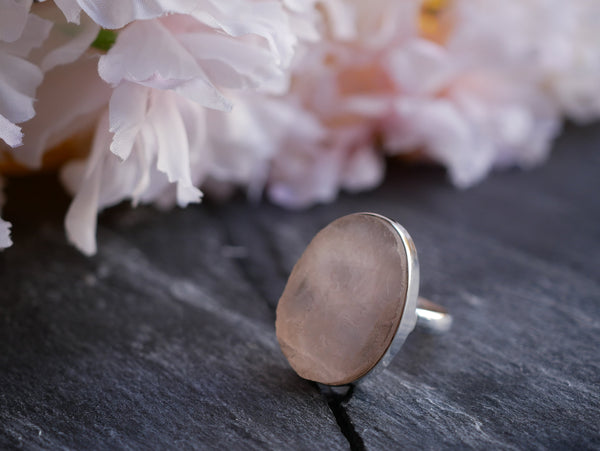 Raw Rose Quartz Akoni Rings - Mixed shapes - Jewels & Gems