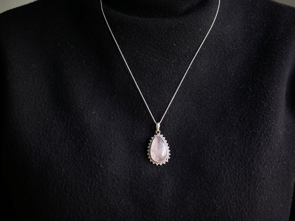 Rose Quartz Lux Pendant Drop - Jewels & Gems