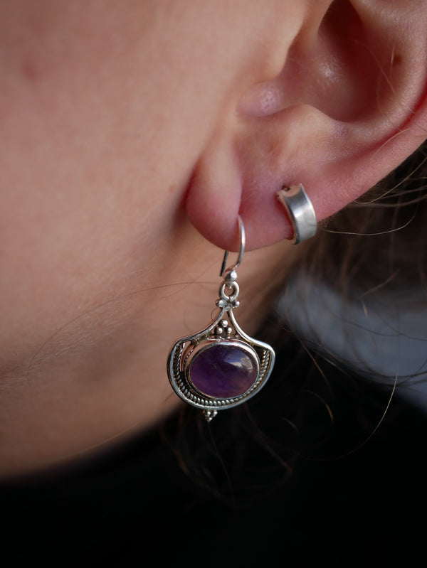 Amethyst Kai Earrings - Jewels & Gems
